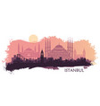 landscape turkish city istanbul vector image vector image