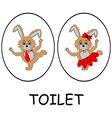 Man and woman restroom signs vector image vector image