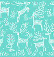 ornate deers seamless pattern for your design vector image vector image
