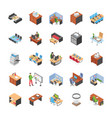 pack of office workplace icons vector image