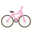 pink bike on white background vector image vector image