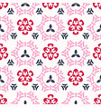 pink cherry bloom asian style ornamental seamless vector image