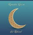 ramadan greeting card with golden moon vector image vector image