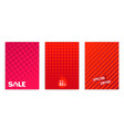 red sale banners template with geometric vector image