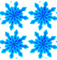 seamless pattern with 3d blue origami snowflakes vector image vector image