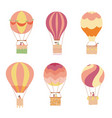set of of hot air balloon vector image