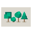 Set of tree icons in flat style vector image