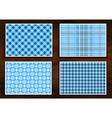 set seamless tartan patterns vector image vector image