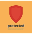 Shield Icon with text vector image vector image