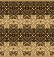 simple flower pattern on kawung batik with dark vector image vector image