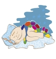 small child sleeps vector image vector image