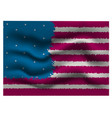 stylized american flag is fluttering vector image