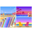 summer compositions and landscapes banners set vector image vector image