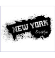 T shirt typography graphics New York Brooklyn vector image vector image