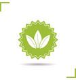 tea leaves icon vector image