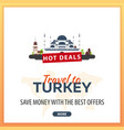 travel to turkey travel template banners for vector image vector image