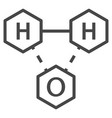 water chemistry formula icon outline style vector image vector image