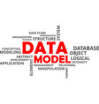 word cloud - data model vector image vector image