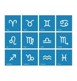 Zodiac icons on blue background vector image vector image