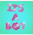 its a boy poster vector image
