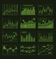 green business charts and graphics set vector image