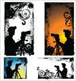Grunge Photographers silhouette - set vector image