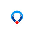 position gps technology logo vector image