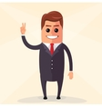 flat design Business man vector image