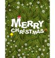 Merry Christmas Congratulatory postcardposter for vector image