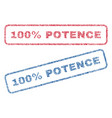 100 percent potence textile stamps vector image vector image