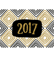 2017 Greeting Card Template vector image vector image