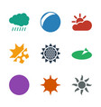 9 sunny icons vector image vector image