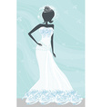 Abstract Beautiful bride vector image vector image