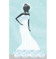 Abstract Beautiful bride vector image
