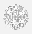 audio book round vector image vector image