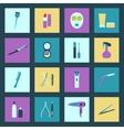 Beauty salon flat icons set vector image vector image