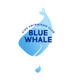 blue whale logo kids swimming club vector image