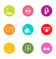 body limb icons set flat style vector image vector image