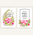 bridal shower invitation with flowers over white vector image