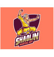 buddhis shaolin kungfu chinese traditional vector image