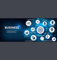 business components vector image vector image