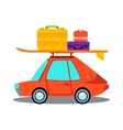 Car Side View With Heap Of Luggage vector image vector image