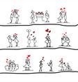 cartoon hand-drawn love vector image vector image