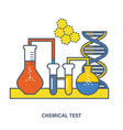 chemical testing conducting experiments testing vector image