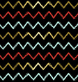 Chevron pattern with zig zag lines in gold color vector image