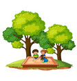 children in sand pit vector image vector image