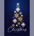 christmas tree merry design template vector image vector image
