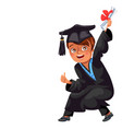 class 2018 congrats colorful flat poster vector image