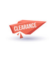 clearance isolated trendy geometric label vector image vector image