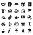 coffee morning icons set simple style vector image vector image